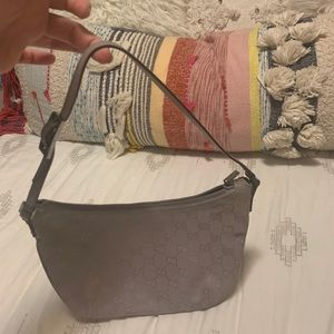 Small lavender canvas and leather Gucci bag